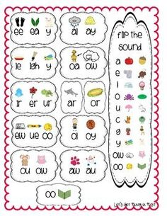 Vowel Digraph Chart-going in reading notebooks this year
