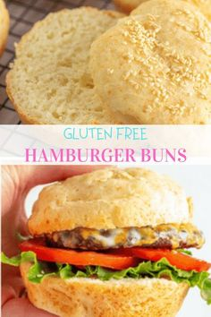FINALLY a gluten free hamburger bun that is soft, bendable, and every bit as good as a regular wheat bun! In fact, we think you just might like it more 😉 Best Gluten Free Desserts, Gluten Free Recipes For Dinner, Dinner Recipes, Gluten Free Flour, Dairy Free, Summer Recipes, Fall Recipes, Gluten Free Hamburger Buns, Wheat Free Recipes