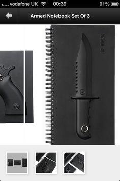 Knife notebook