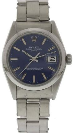 Rolex Date automatic-self-wind mens Watch 1500 (Certified Pre-owned) Stainless Steel Rolex, Stainless Steel Bracelet, Men's Underwear, Blazers For Men Casual, Rolex Oyster Perpetual Date, Rolex Date, Luxury Watch Brands, Rolex Watches For Men, Pre Owned Rolex