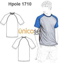 POLERA REMERA BASICA RAGLAN HOMBRE Polo Shirt, Tee Shirts, Tees, Flat Sketches, Tee Shirt Designs, Fashion Flats, Sewing Clothes, Athleisure, Active Wear