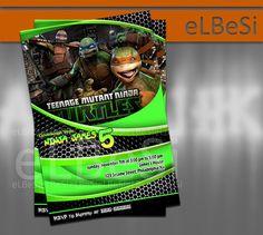 Ninja Turtle Birthday Invitation - Invitation Card