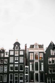 All the pretty buildings in Amsterdam.