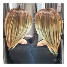 Downtown Campbell: Balayage ombré with haircut  #hairstylist #daisy_embelish #embelishhairlounge #embelishlounge #balayage #ombre #haircut #handpainting #lorealprous #dialight #majirel #profiber #blonde #campbell #downtowncampbell #sanjose #bayarea #sanjosehairstylist by daisy_embelish