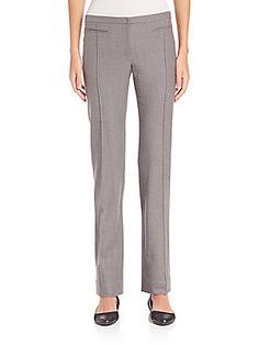 Aquilano Rimondi Virgin Wool Blend Straight-Leg Pants