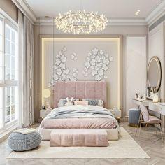 Luxury Kids Bedroom, Luxury Bedroom Design, Bedroom Decor For Teen Girls, Room Design Bedroom, Girl Bedroom Designs, Home Room Design, Home Decor Bedroom, Modern Kids Bedroom, Luxurious Bedrooms