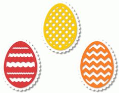 Silhouette Design Store - View Design #40476: 3 eggs w scalloped mat