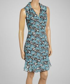 Look what I found on #zulily! Watercolor Rose Collar Wrap Dress by Tulle #zulilyfinds