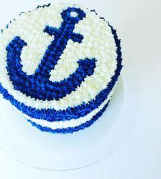 Anchor Smash Cake by CUPCAKES AND CONFETTI @ CupcakesandConfetti.com