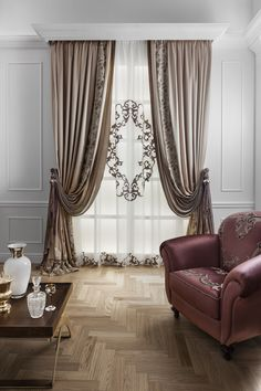 Italian Craftmanship - Luxury curtains made in Italy Living Room Decor Curtains, Gold Bedroom Decor, Living Room Furniture Layout, Home Curtains, Window Curtains, Fancy Curtains, Classic Curtains, Luxury Curtains, Modern Curtains