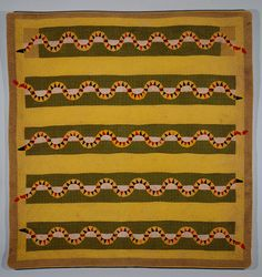 Unknown African American Maker | Quilted Bedcover | ca. 1875-1900 | Cotton top, linen back, and cotton stuffing | Purchase with funds from Ann and Tom Cousins and the Decorative Arts Endowment | 1997.203