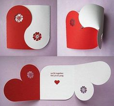 Valentine Collection (Yin Yang Card Gift Box Chipboard Balls Banner) SVG DXF PDF Machine Cuttable Files no items will be shipped Origami Love Cards, Diy Cards, Boyfriend Crafts, Boyfriend Card, Heart Cards, Valentine Day Cards, Valentine Heart, Valentine Ideas, Homemade Valentines Day Cards