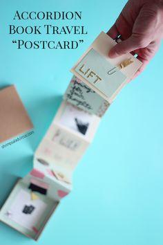 DIY Accordion Book Travel Postcard - Shrimp Salad Circus