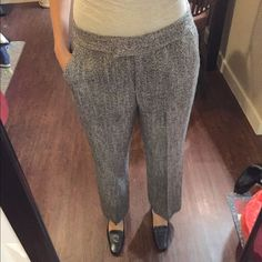 Brown Tweed Anne Klein Pants Brown tweed pants by Anne Klein. In great condition. I'm 5'4 and it's the perfect height. Pockets on the sides and back. Zipper, button, and double clasp closures. (More info coming soon) Anne Klein Pants