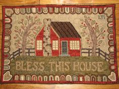 Bless This House rug 30 in. X 43 in. Retail @ $1900.00