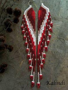 feather earrings native style earrings beaded earrings seed