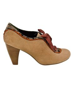 Look what I found on #zulily! Boxwood Backlash Leather Pump by Poetic Licence #zulilyfinds