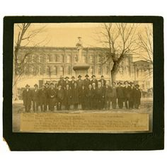 "5th Tenn. Confederate Veterans. The photograph was taken in front of the Confederate Memorial in Paris, Tennessee.  An inscription on the back lists the following individuals: """"Please note: This image is from the Paris-Henry County Heritage Center."