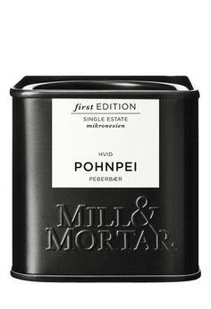 Mill & Mortar Black and White Packaging