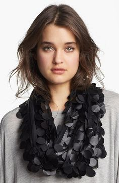 Love love this stylish scarf! Bernie of New York Faux Leather Infinity Scarf available at #Nordstrom