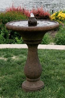 Simple & rustic this Chelsea fountain is quick to install. Comes a a variety of finishes so you can customizes your fountain. Patio Fountain, Fountain Lights, Bird Bath Fountain, Concrete Fountains, Garden Stones, Light Up, Chelsea, Glow, Rustic