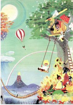 Moomin by Tove Jansson Tove Jansson, Moomin Valley, You Draw, Art Graphique, Children's Book Illustration, Art Plastique, Finland, Illustrators, Cool Art