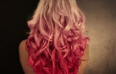 Pink Dip Dyed Hair.  I will be doing this for October to promote breast cancer early detection.