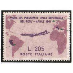 Gronchi rosa stamps - These rare Italian stamps were actually stamp errors when the artist made a misprint on the Peru-Ecuador territorial boundaries.