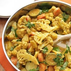 Easy 30-minute vegetable korma. There's absolutely no need for a takeaway when you can make this tasty curry in your kitchen!