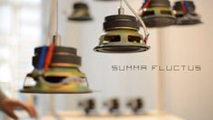 Summa Fluctus is a prototype of a kinetic sound installation that explore the complex world of harmonics and their acoustic beats in the spaces. The artwork consists of six suspend, floating loudspeakers that rise and fall to various heights, in propotion to the frequency (sine waves) that eachone reproduce.In this video the first exhibition of #summaflucts at XIII Share Festival in Turin (1,2,3 June 2018) that also produced the artwork.
