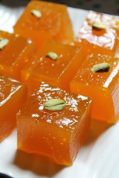 Custard Powder Halwa Recipe is part of Indian dessert recipes I love jelly type halwas, my favourite one is a fruit halwa which is available in our near by bakeries It is jelly like, full of fruit - Indian Dessert Recipes, Indian Sweets, Indian Snacks, Sweets Recipes, Easy Desserts, Cooking Recipes, Sago Recipes, Easy Sweets, Pudding Recipes