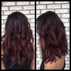 Burgundy balayage hair Must do hair color shades, balayage Burgundy color hair haircolorshades haircolorshadeschart hairgoals shades shadesofhair 636977941029596607 Burgundy Balayage, Auburn Hair Balayage, Balayage Brunette, Brunette Hair, Burgundy Hair Highlights, Red Balayage Highlights, Dark Red Hair Burgundy, Fall Balayage, Auburn Highlights