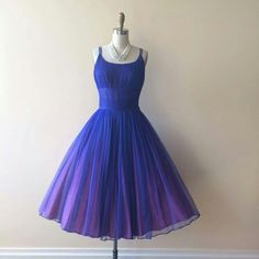50s dress. Such a lovely color