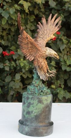 This beautiful eagle sculpture would make a powerful statement at your home or office. Call us today at (877) 528-2531 to discuss your specific needs.