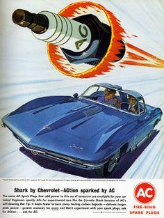 AC ad featuring the Corvette Shark