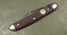 Vintage Boker USA 8288 Tree Brand 2 Blade Pen Hunt Fish Camp Old Pocket Knife #Boker