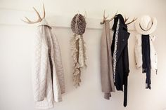 60 Antler Coat Rack by Fosteria on Etsy, $300.00    Kayla and Brenna - have Aunt Nicole get this for your dorm room.