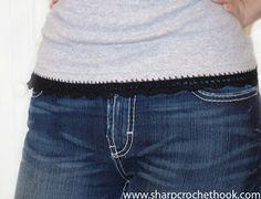 Sharp Crochet Hook: black edgings