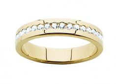 18ct Yellow Gold Channel set Diamond Wedder