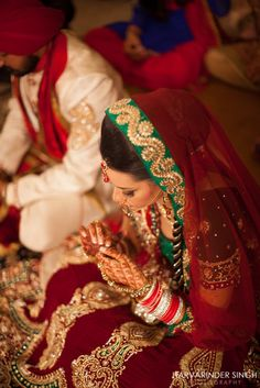 Sikh bride, Indian , Choora, henna