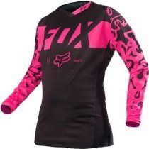 Fox Racing Women's 180 Jersey - Medium/Black/Pink