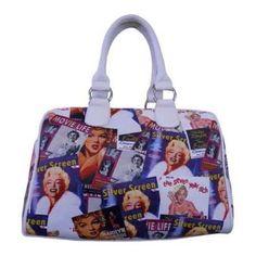 Women's Marilyn Forever Beautiful Collage Satchel Handbag MM612