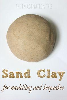 Sand Clay Recipe and Handprint Keepsakes Sand Clay Rezept und Handabdruck Andenken – The Imagination Tree Sand Crafts, Beach Crafts, Summer Crafts, Clay Crafts, Crafts To Make, Crafts For Kids, Diy Fimo, Diy Clay, Imagination Tree
