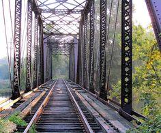 "Holcombe Mills train trestle bridge, photo named ""Following White Rabbit"""