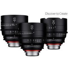 Samyang Xeen Full Frame 24/50/85mm T1.5 4K+ 3 Cine Lens Kit Sony E Mount - £4,009.50