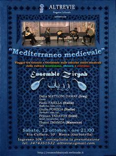 Ensemble Zyryab. Musica medievale ad Altrevie. Sabato 12 ottobre ore 21, Via Caffaro 10