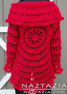 crochet clothing free pattern crochet circle sweater jacket