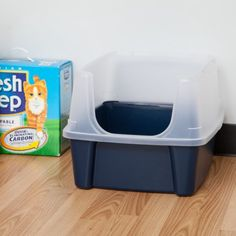 The IRIS Cat Litter Box with Shield and Scoop has extra-tall walls on three sides to help contain litter and spray while keeping dirt out. The high-polished interior surfaces and included cat litter scoop make the litter box easy to clean. Cat Litter Pan, Litter Box Enclosure, Getting A Kitten, Litter Box Covers, Log Home Interiors, Clumping Cat Litter, Indoor Pets, Old Boxes, No Rain