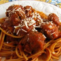 Baked Spaghetti and Meatballs: Baked Spaghetti and Meatballs