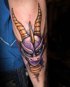 spiro Tattoo Skin, Body Art Tattoos, Sleeve Tattoos, Cool Tattoos, Oni Tattoo, Tattoo Sleeves, Awesome Tattoos, Tatoos, Video Game Tattoos